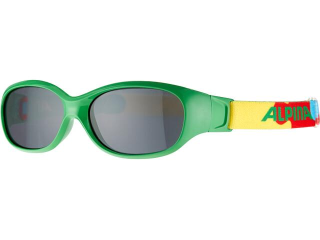 Alpina Sports Flexxy Bril Kinderen, groen/bont